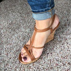 Michael Kors strappy wedge sandal size 6